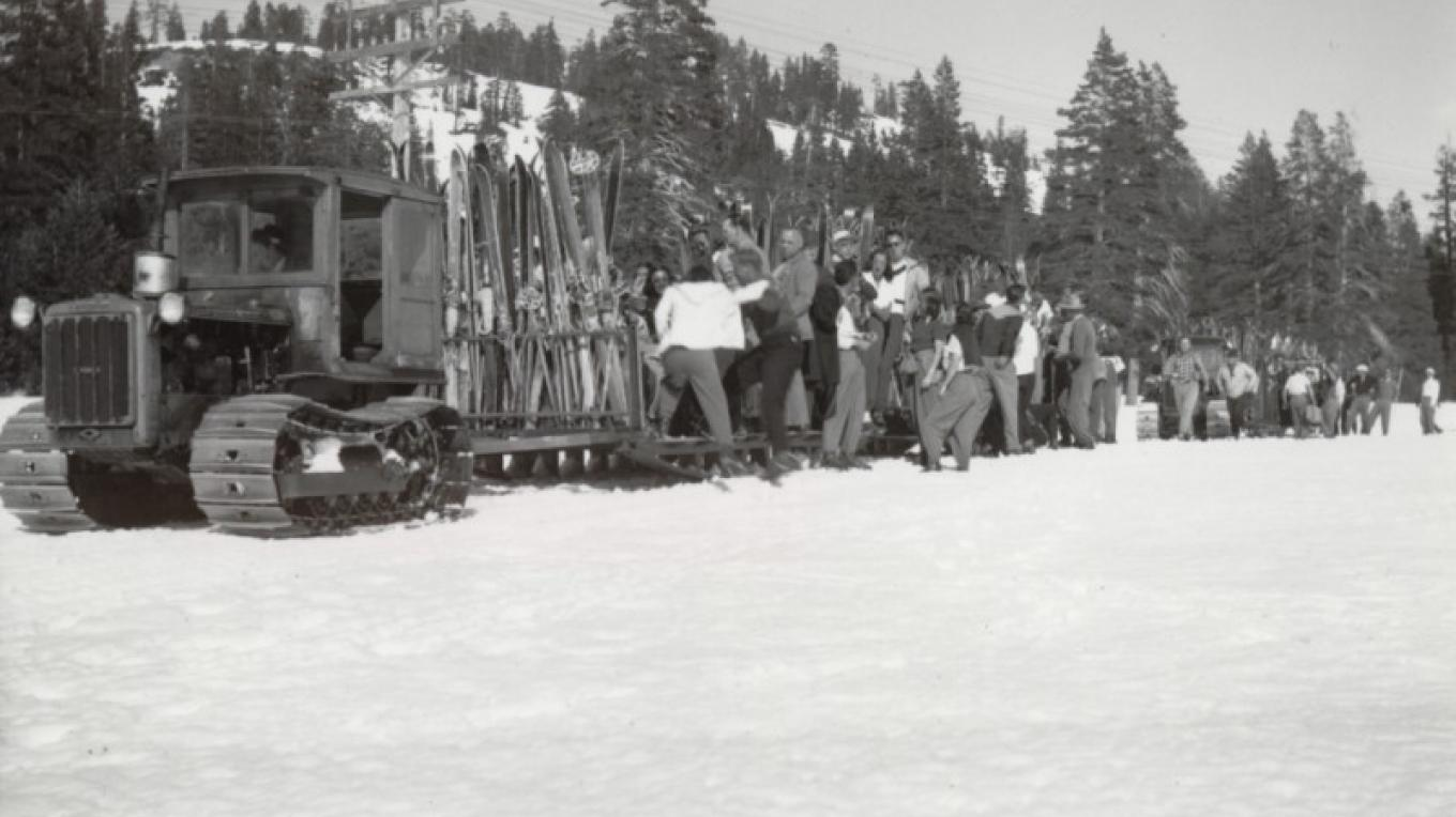 Original people mover known as the Snow Weasel – courtesy of Sugar Bowl