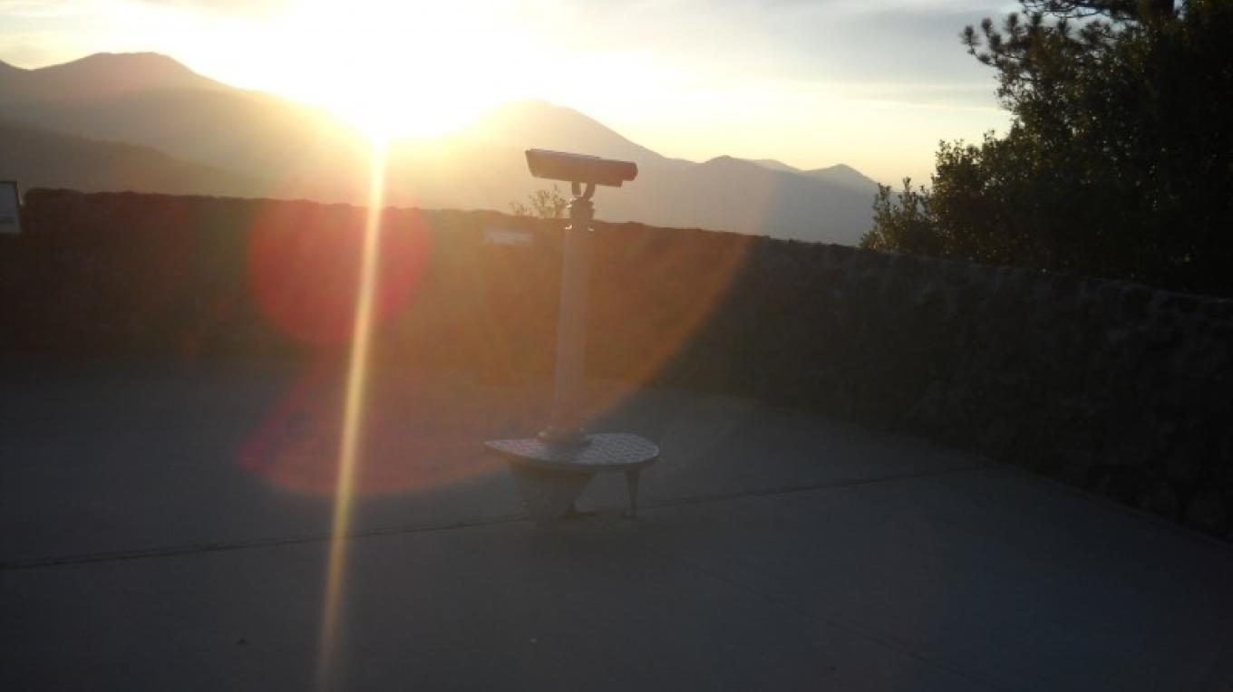 Hat Creek Rim Overlook as the sun sets. – Suzanne Scull