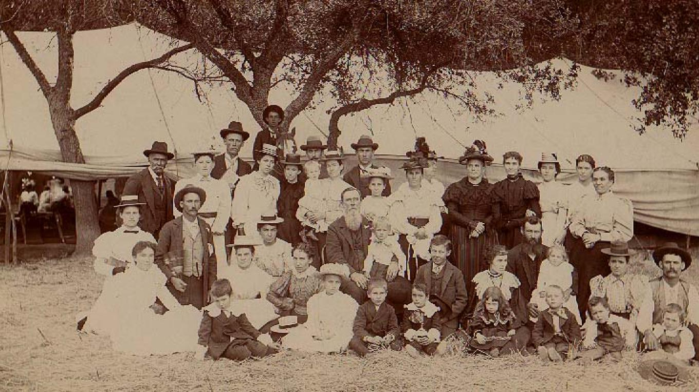 Group shot of a reunion at Stone Corral – John Hofstetter