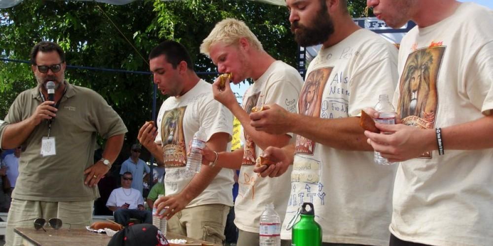 Amador County Fair Survivor corn dog challenge