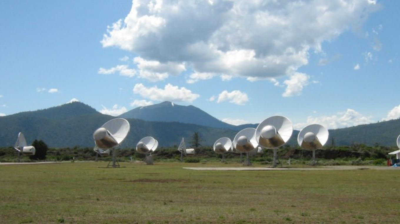 The dishes of Allen Telescope Array point skyward. – Alicia Fitzgerald