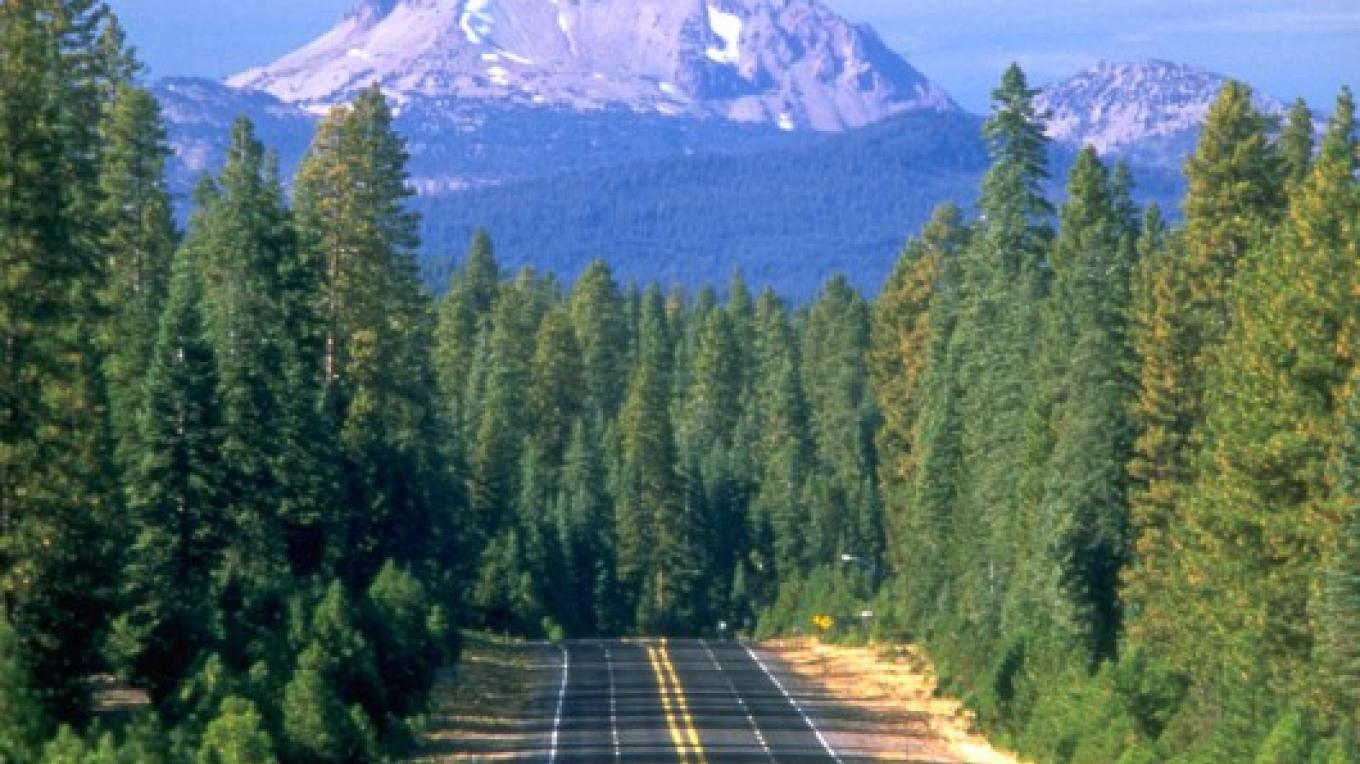 View of Lassen Peak on the Scenic Byway. – courtesy of Lake Almanor Area Chamber of Commerce