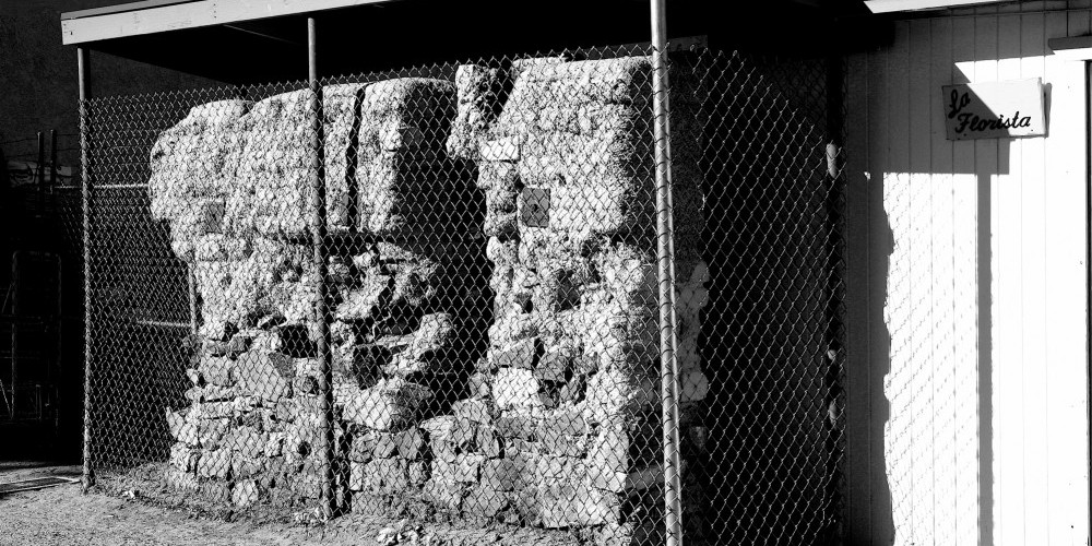 Remaining adobe wall from original Meysan store, destroyed in the 1872 Lone Pine earthquake. All the buildings in Lone Pine st the time were adobe and all were destroyed or damaged. Two years later the town had been rebuilt. – Langley
