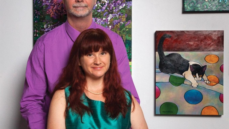 2015 catalog cover artist Susan Manter Bolen and husband John – Jonathan Bock