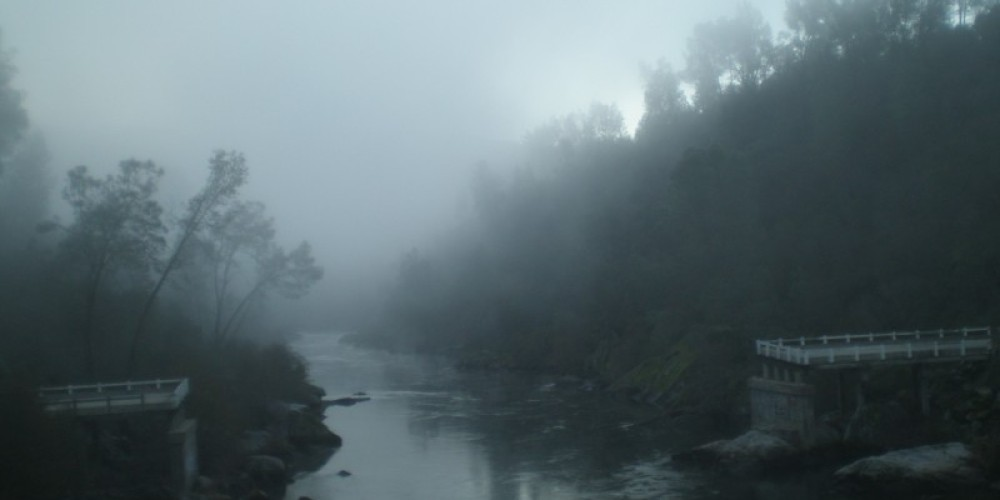 Kerckhoff Reservoir and future trail bridge crossing – Steve haze