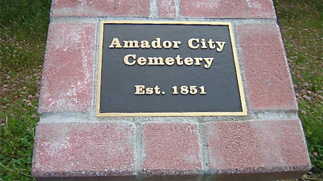 This is the original cemetery in Amador City. It is located up the hill behind the Imperial Hotel. – Karrie Lindsay