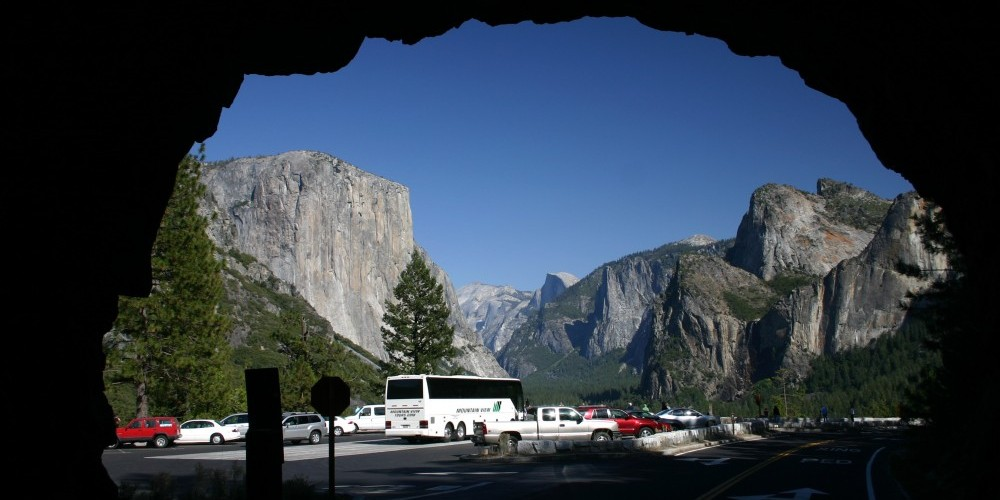 """One of the key places Tunnel View from inside the \""""Tunnel\"""" – Pat Althizer"""