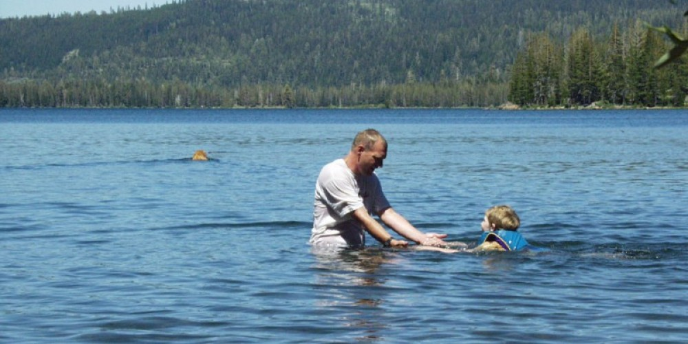 Learning to swim in a safe and natural environment. – Mary Davey