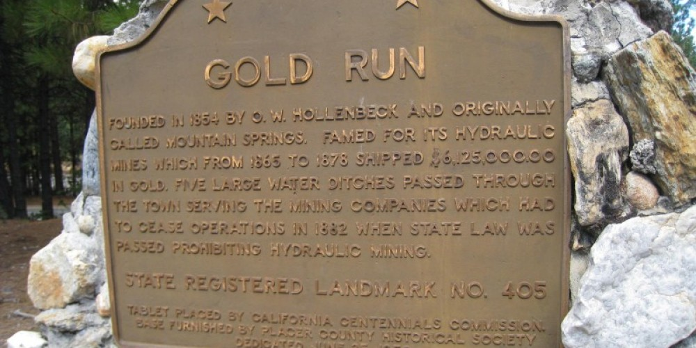 Gold Run historic marker at I-80 Gold Run exit – David Wiltsee