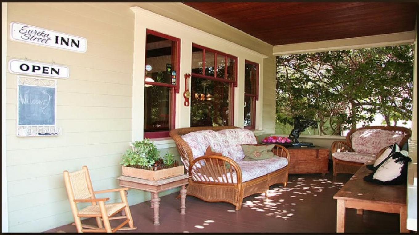Restful sitting porch where friends are made! – Christine Gustafson, InnLight Marketing