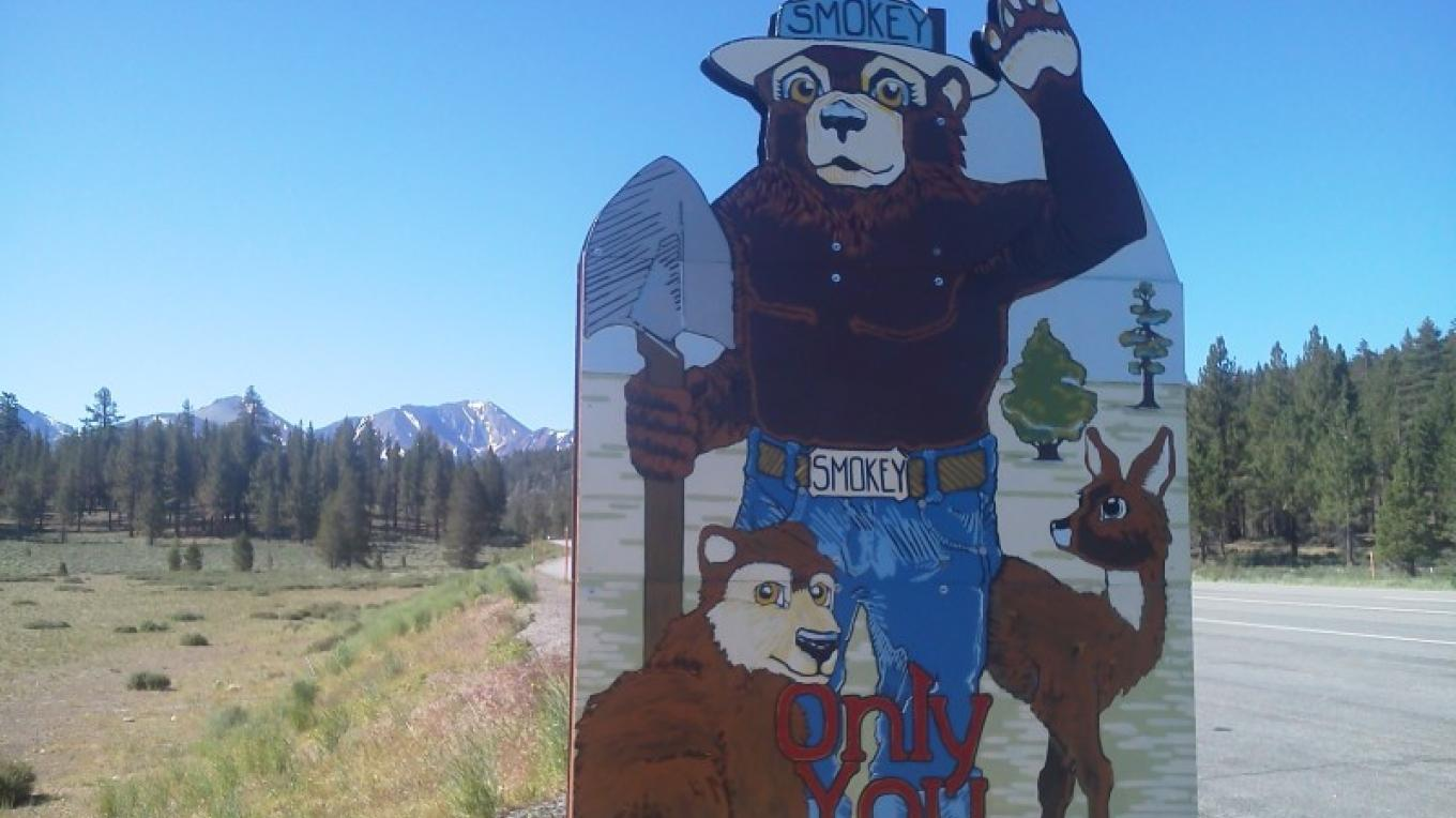Smokey The Bear Sign – DJ's Snowmobile Adventures, Inc.