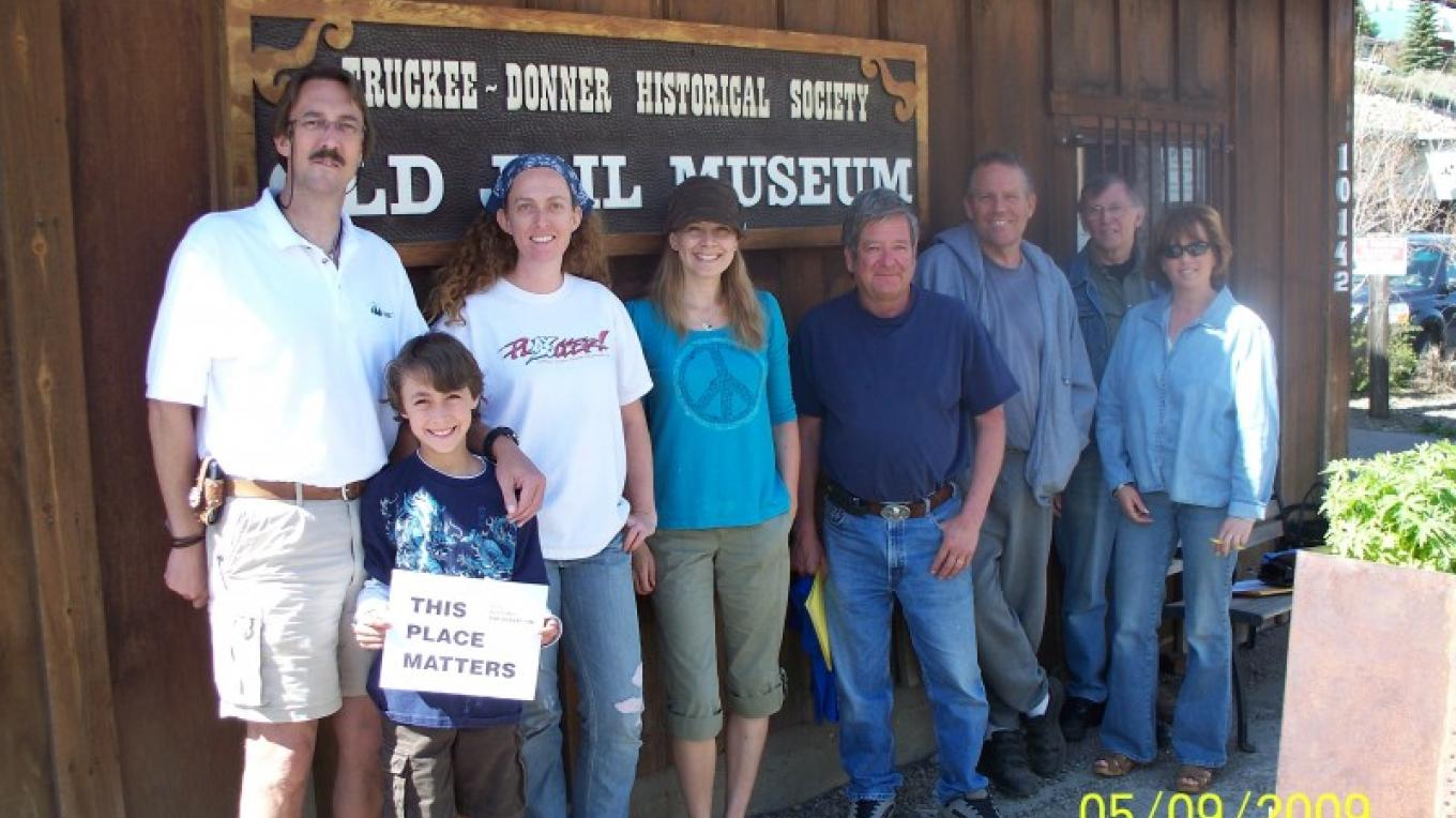 "Annual Docent Training Day 2009.  Theme ""This Place Matters."" – © 2009 Truckee Donner Historical Society All Rights Reserved"