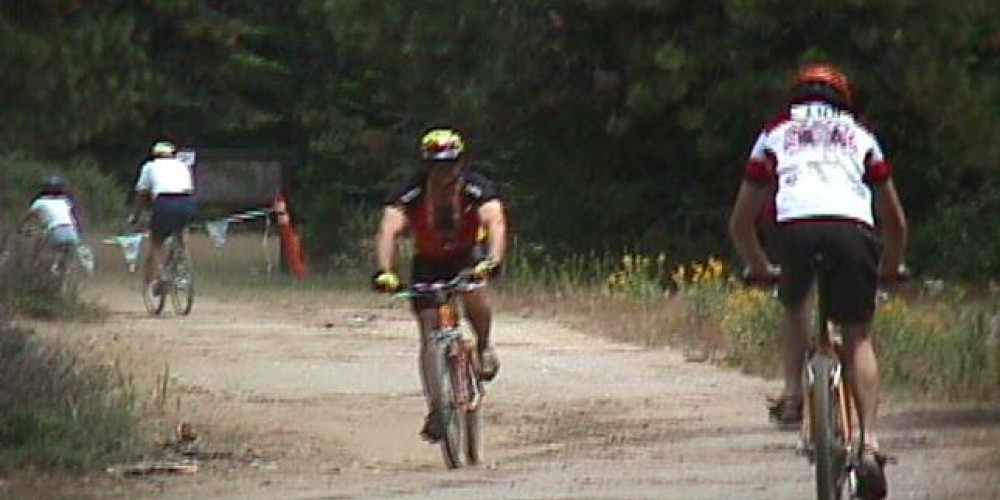 Bicyclists Using a Trail