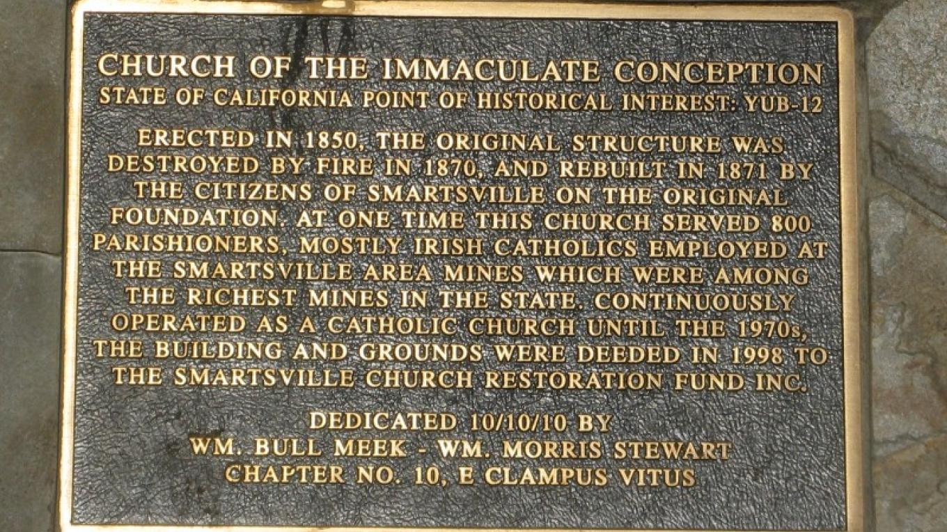 Church of the Immaculate Conception Marker – Syd Whittle, 2011