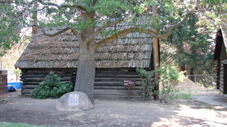 Roop's Fort, Built in 1854.  The oldest building in Lassen County. – lhansen