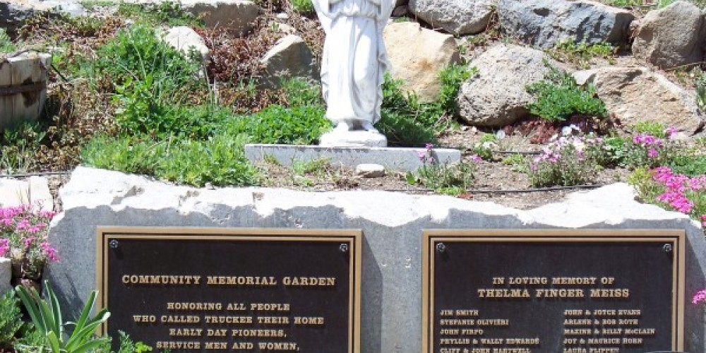 Community Memorial Garden remembrance plaques. – © 2010 Truckee Donner Historical Society All Rights Reserved
