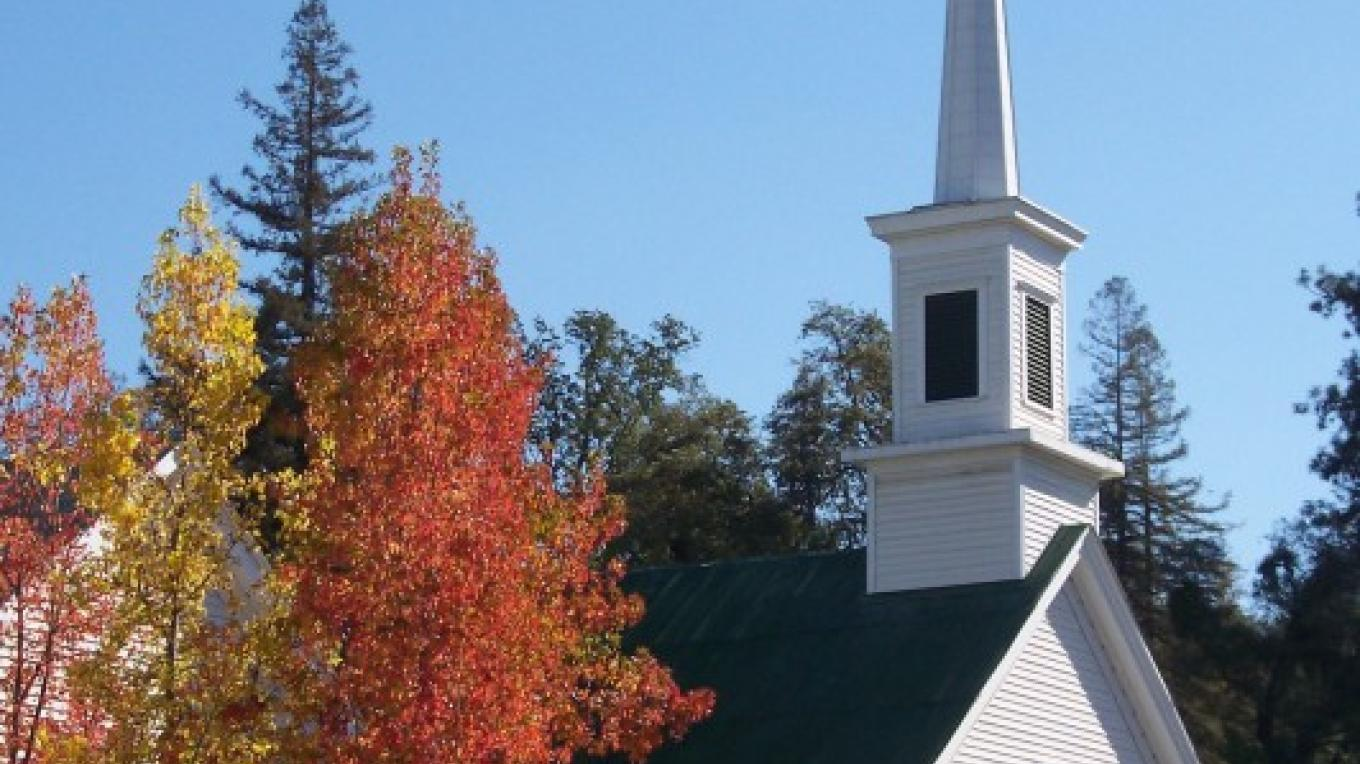 Sutter Creek United Methodist Church in the fall. – Al Trebes