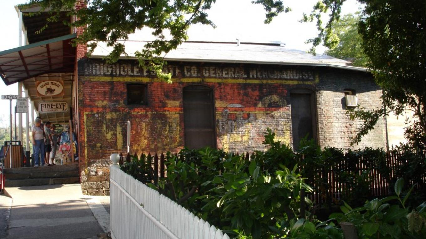 Original paint from advertisements can still be seen on some of the buildings in Sutter Creek. – klosowski