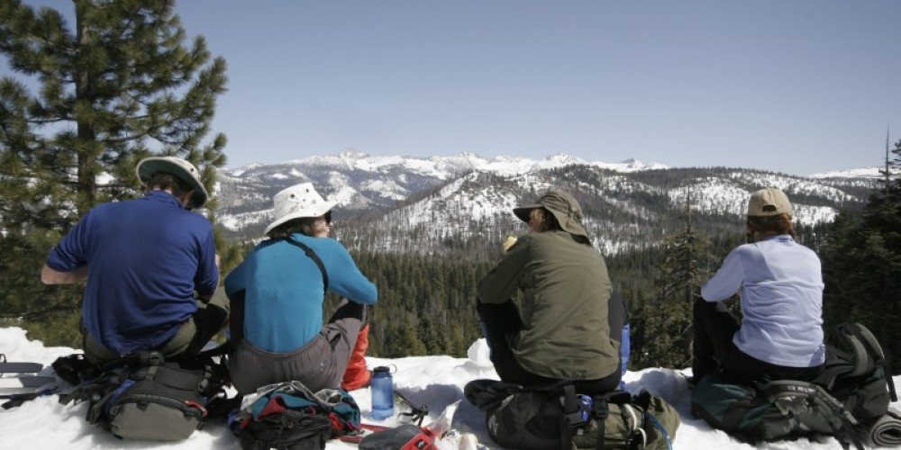 Lunch break at Clark View, half way from Badger Pass to Glacier Point.