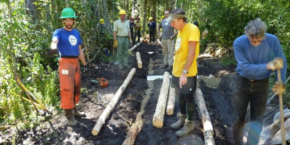 Constructing new trail – SBTS
