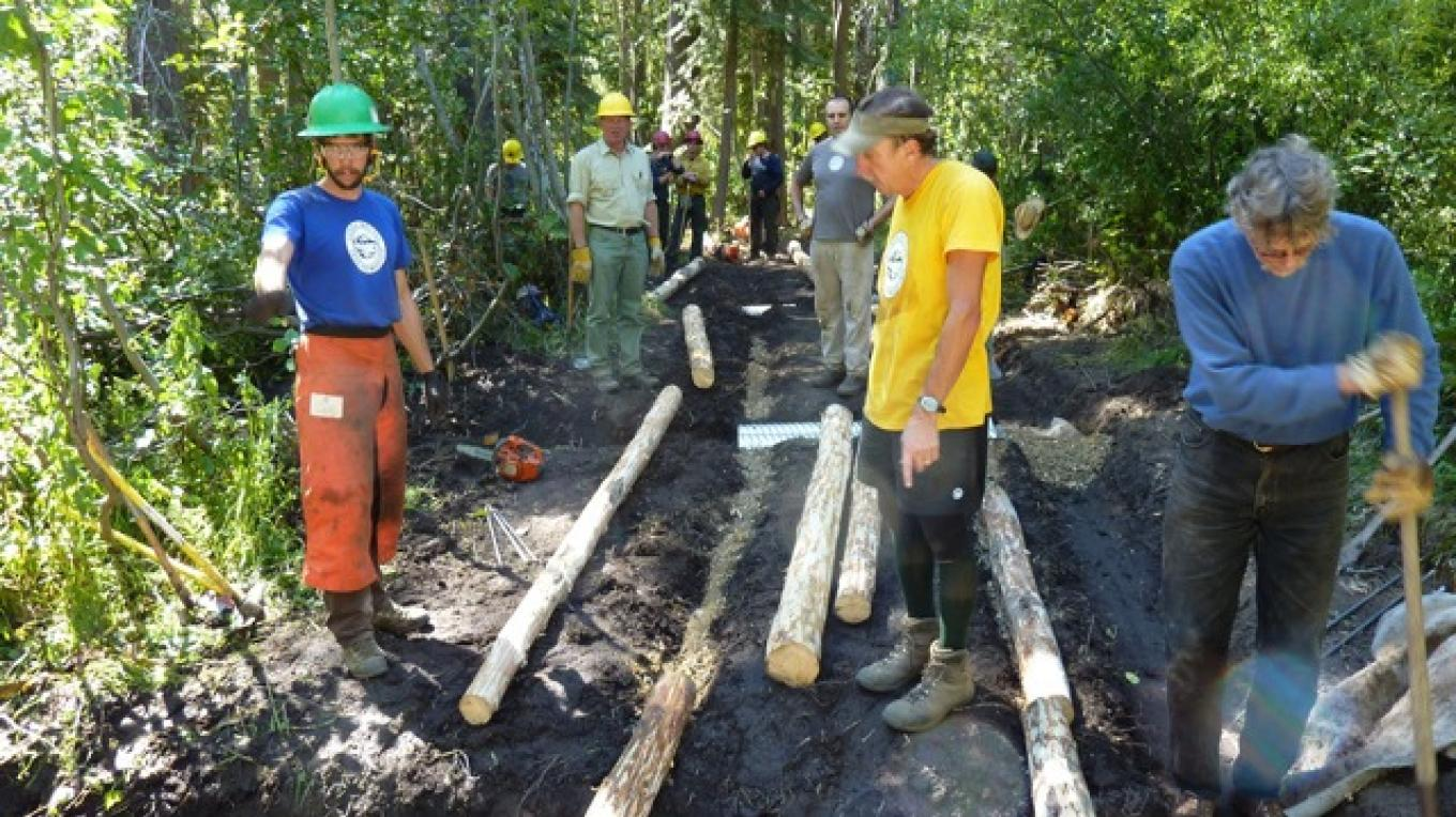 Constructing new trail – SBTS