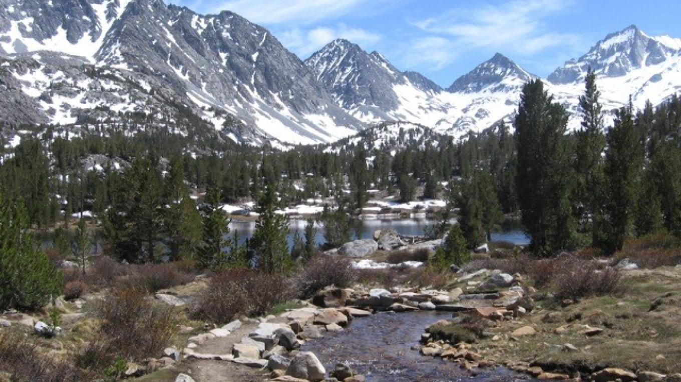 Rock Creek is surrounded by 13,000\' peaks – Bradley Cleveland