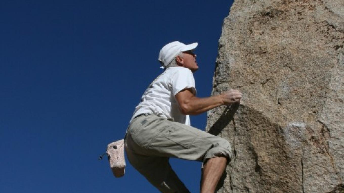 """Boulderers from around the world challenge their skill and strength on hundreds of """"problems"""" in the Buttermilks – Julie Faber"""