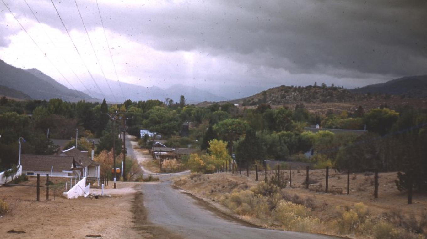 Old Kernville, 1948, view from Hackley Hill. – unknown