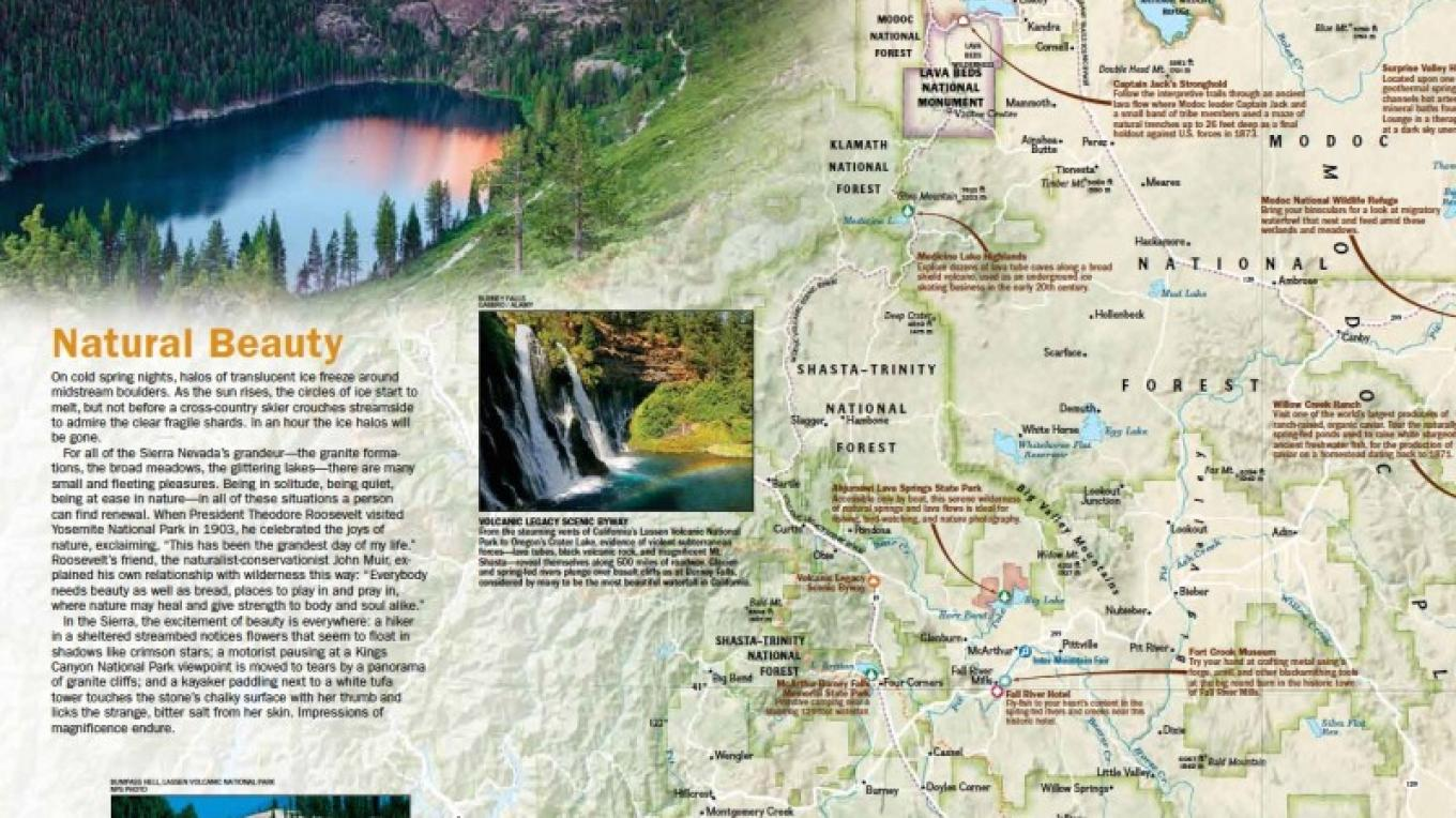 A closeup of the map. – National Geographic Maps