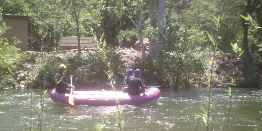 Whitewater rafting on the Main Fork of the Kaweah River, behind Three Rivers Bed & Breakfast, in the Spring of 2009, Three Rivers, CA – Leah Catherine Launey