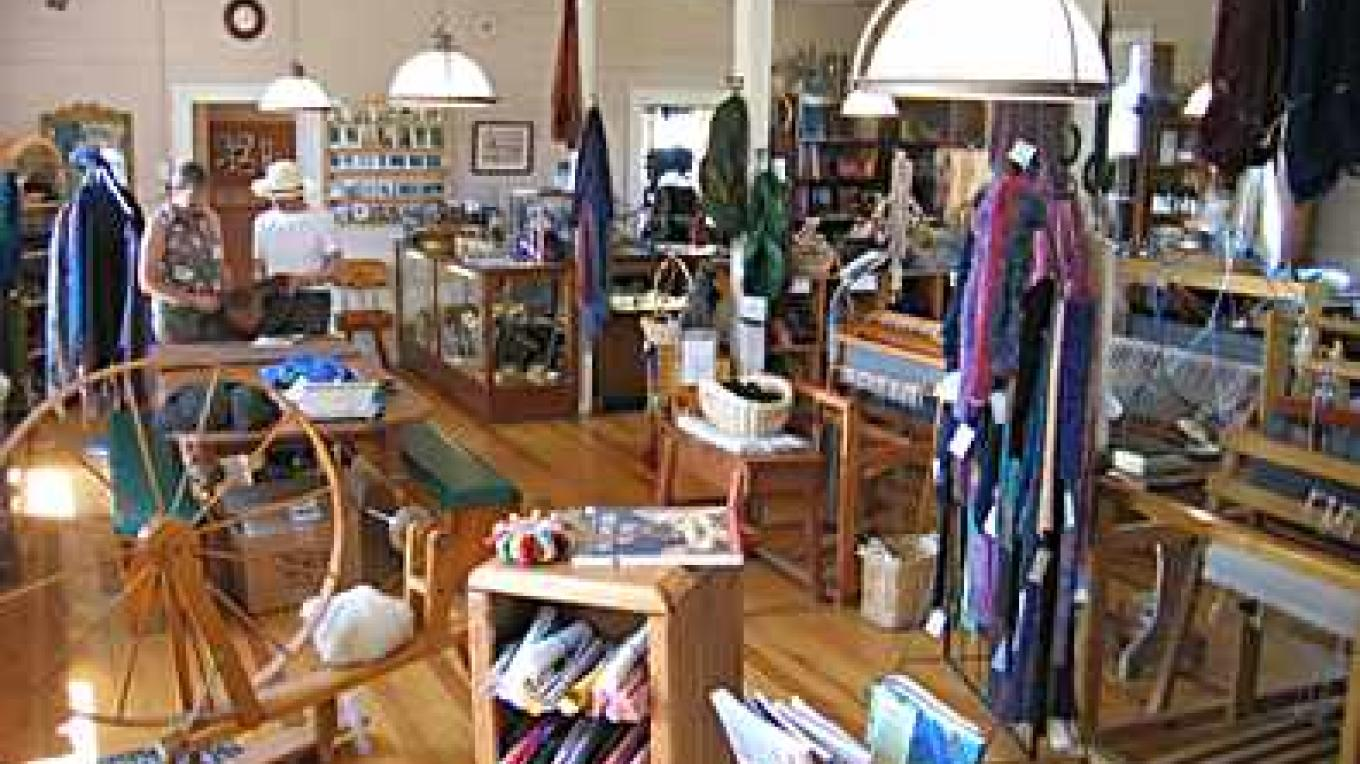 The working studio and salesroom of Warner Mountain Weavers – Tim Sachak
