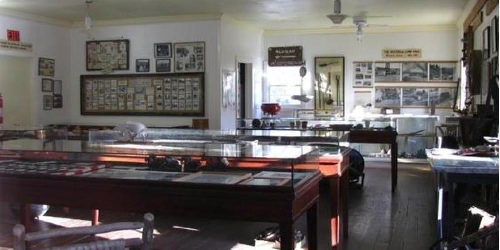 Havilah Museum, inside the replica of circa 1868 Havilah Courthouse – Yaqui