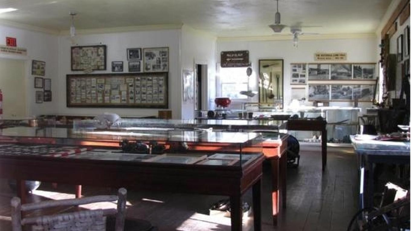 Havilah Museum, inside the replica of circa 1868 Havilah Courthouse – Yaqui