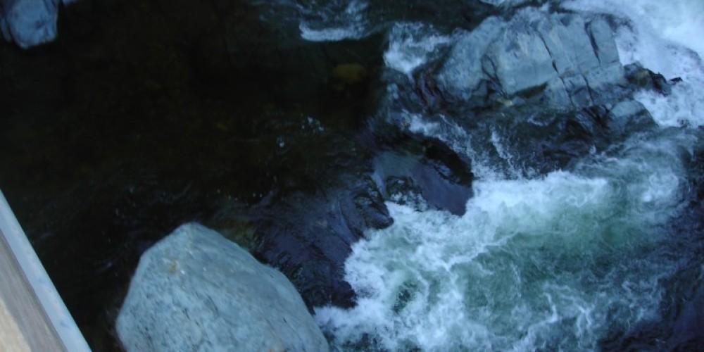 Falls below the bridge – Docia Bostrom