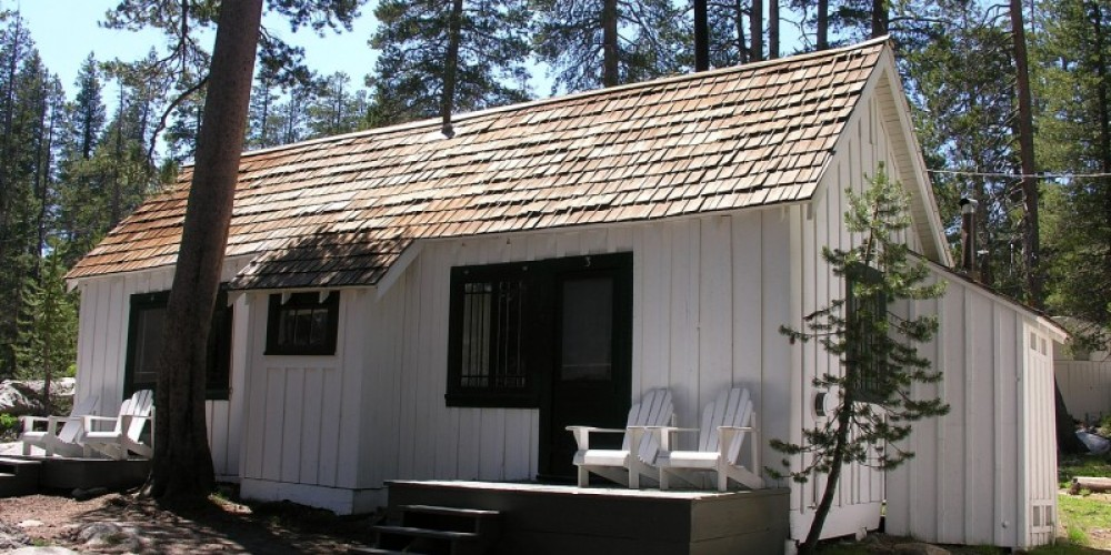 Exterior of a White Wolf Cabin