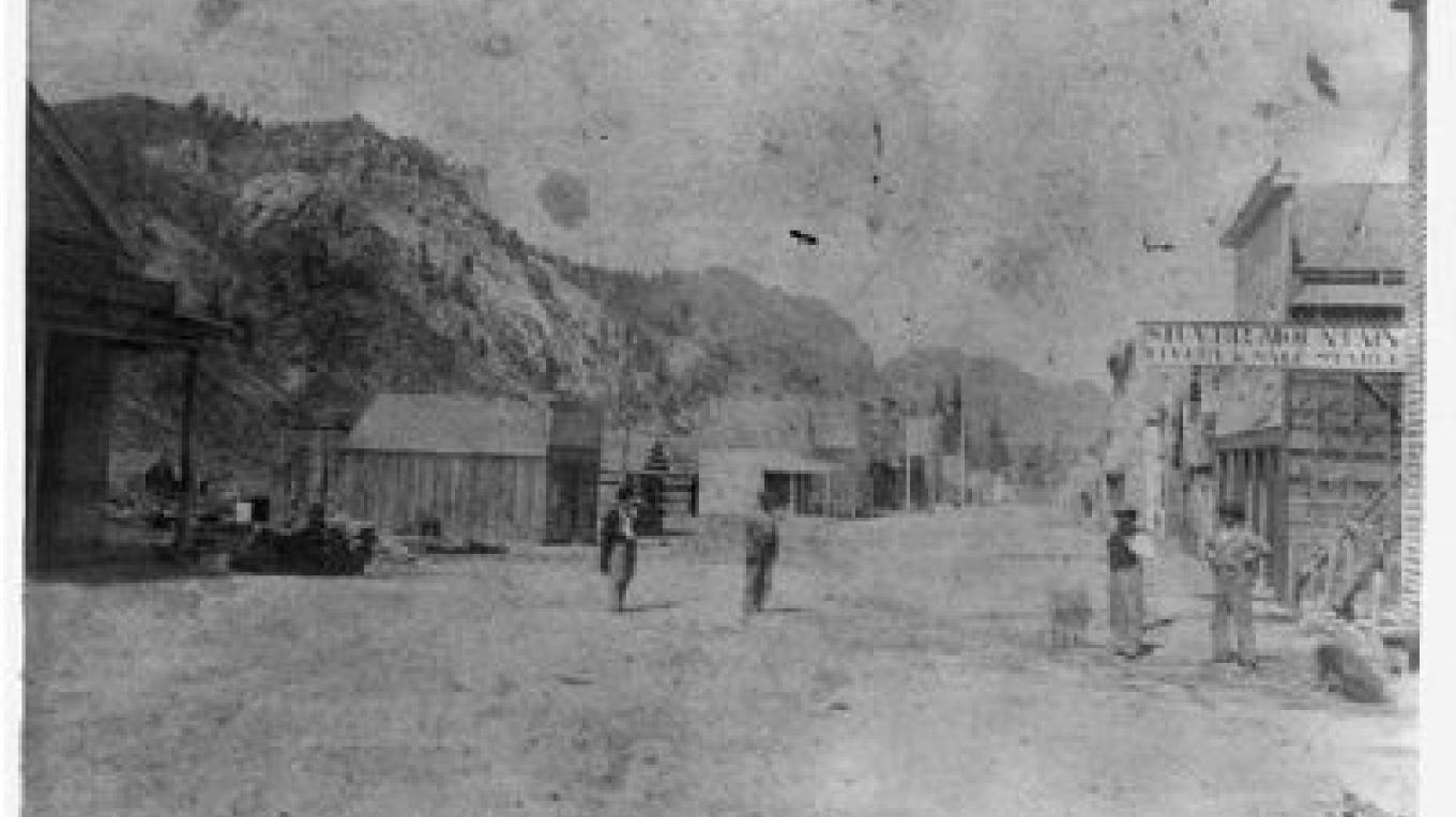 Main Street- Silver Mountain City 1866 – Lawrence and Houseworth