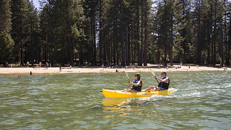 Kayaking along the shore – Camp Richardson Resort