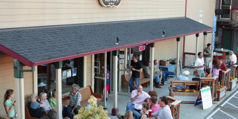 ol' Republic's front patio seating – http://anewscafe.com/2012/09/20/once-upon-a-brew-pub-ol-republic-brewing/