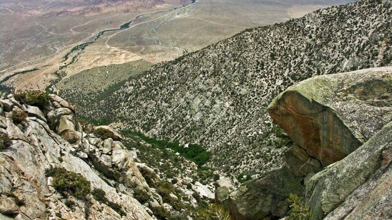 View of Owens Valley from Mt. Whitney – NPS