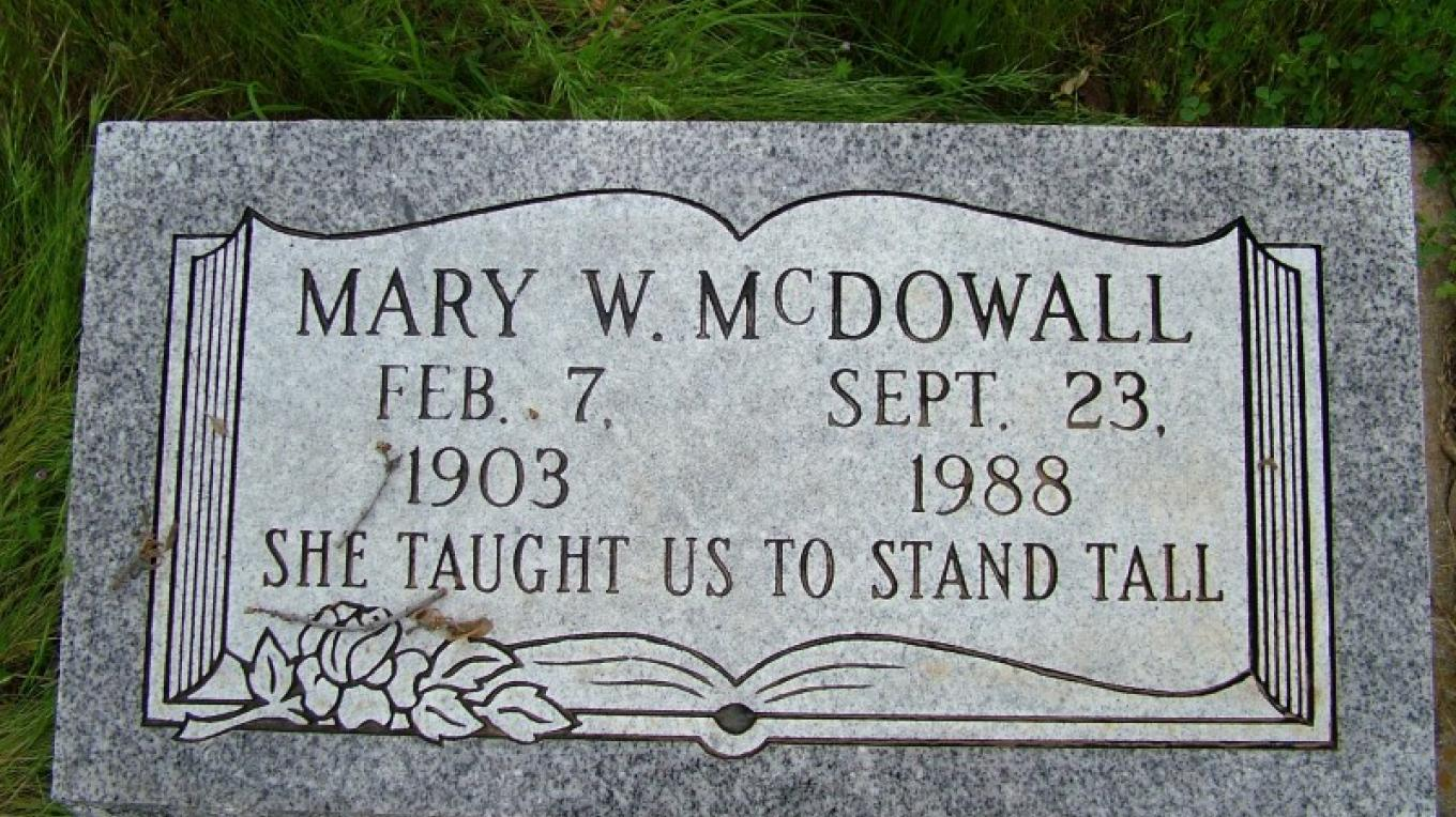 Mary McDowall was the first superintendent and principal of the Three Rivers Union School District, serving from 1927 to 1968. – John Elliott