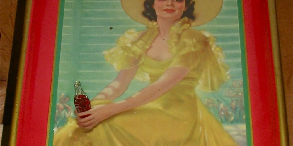 Coca Cola was an expert at soda fountain tray design! – Karrie Lindsay