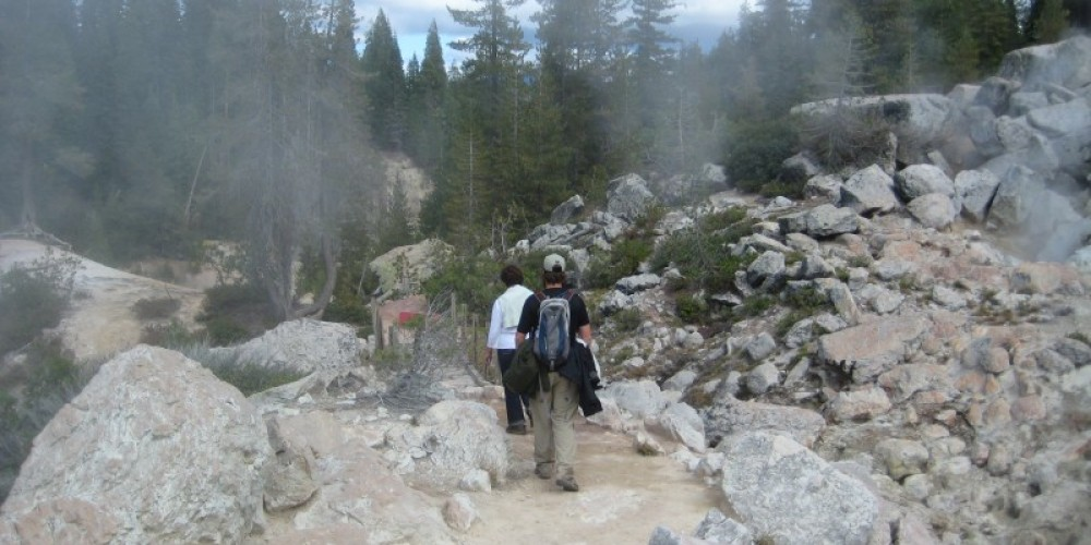 Hikers at Devils Kitchen – NPS Photo