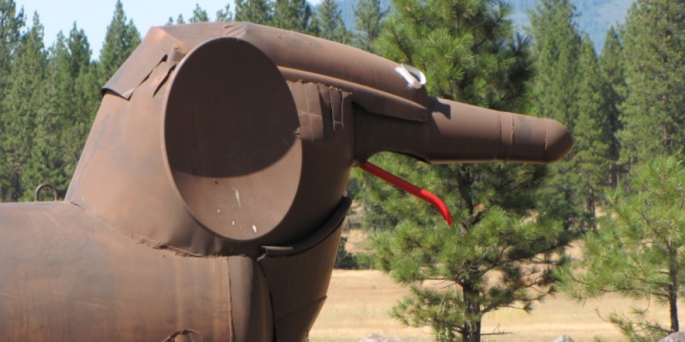 The sculptures at Packway are in the forests of eastern Shasta County. – Ben Miles