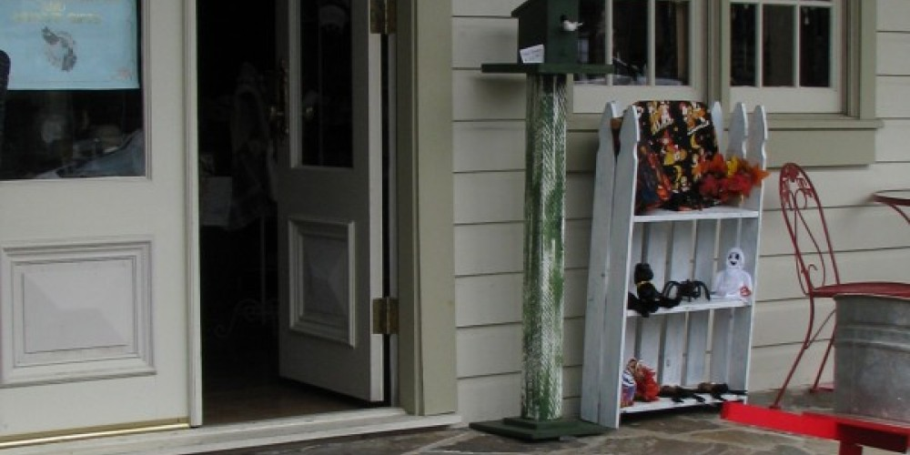 Located in the historic Amador Hotel building, Nancy Koehler makes many of her items righty in the shop. – Karrie Lindsay