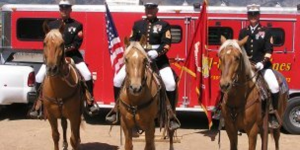 USMC Mounted Color Guard