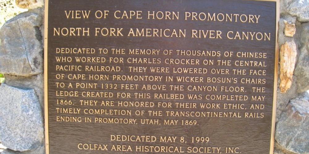 Cape Horn historical marker, Hwy 174 near Colfax – David Wiltsee