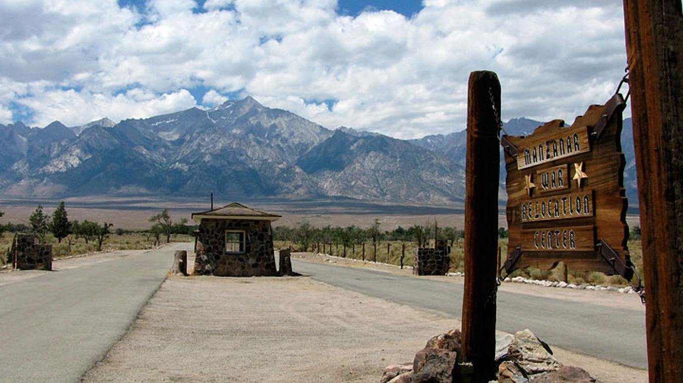 Entry point into the Manzanar Relocation Center, now a National Historic Site – itoda.com