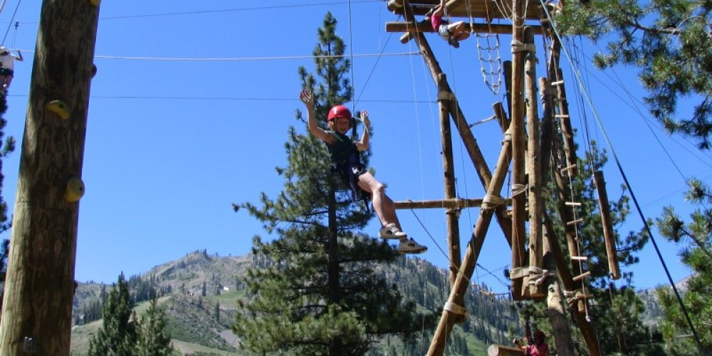 Looking on to KT 22 from the Ropes Course