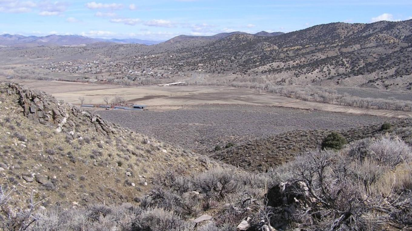 Silver Saddle Ranch as seen from an adjacent acquisition called Prison Hill.