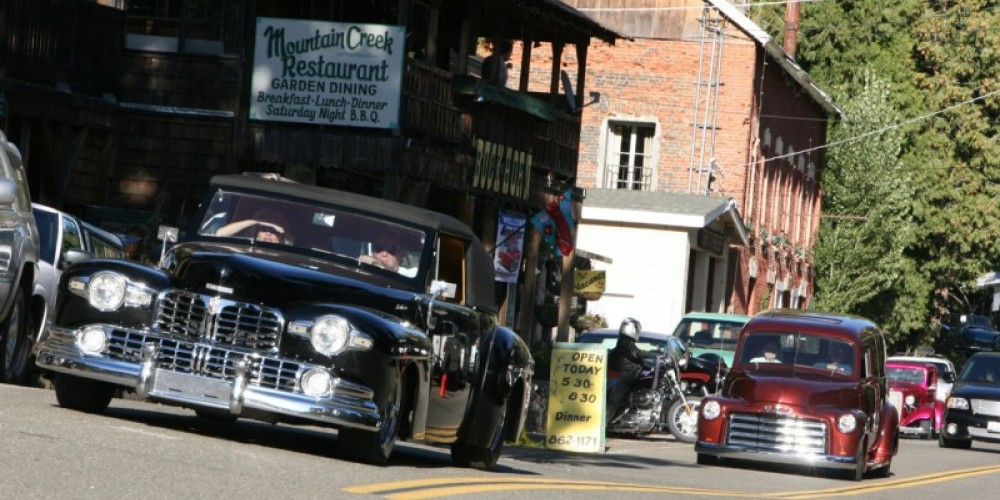 Proud owners in their incredibly well-kept cars cruise through Sierra City's downtown. – Tom Edgman
